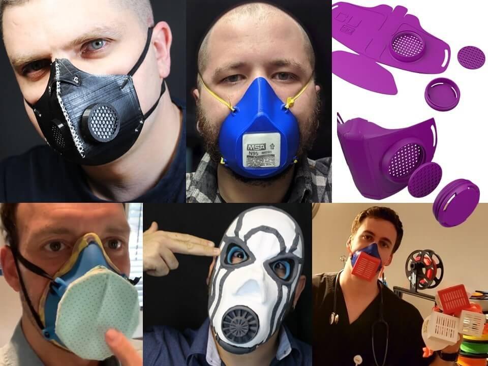 چند نمونه ماسک پرینت شده شده توسط افراد خلاق